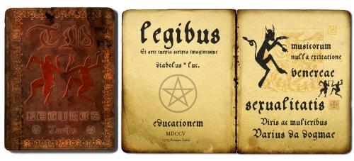 Gesetze des Teufels. Latain, 1705 - Bund, verbotene Bücher, Hexen, Tanz
